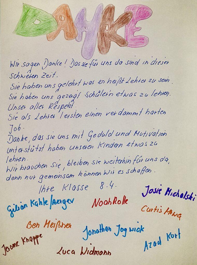 Ein tolles Dankeschön - Theodor-Haubach-Schule